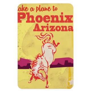 Phoenix, Arizona USA Vintage Travel Poster Magnet