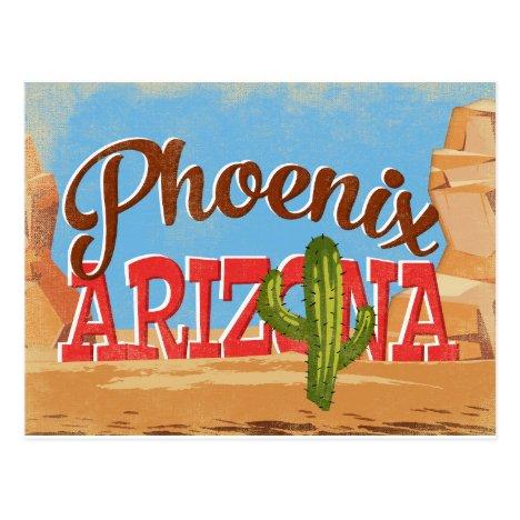 Phoenix Arizona Vintage Travel Postcard