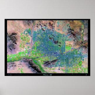 Phoenix (Art) Arizona satellite map photo print
