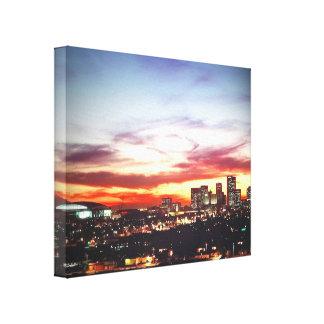 Phoenix, AZ at Sundown Canvas Print