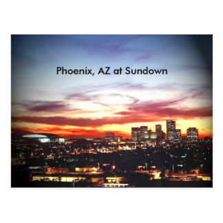 Phoenix, AZ at Sundown Postcard