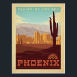 "Phoenix, AZ Postcard<br><div class=""desc"">Anderson Design Group is an award-winning illustration and design firm in Nashville,  Tennessee. Founder Joel Anderson directs a team of talented artists to create original poster art that looks like classic vintage advertising prints from the 1920s to the 1960s.</div>"