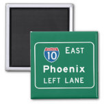 Phoenix, AZ Road Sign 2 Inch Square Magnet