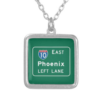 Phoenix, AZ Road Sign Personalized Necklace