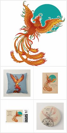 Phoenix Bird Art