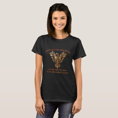 Phoenix Bird Rise from the Ashes Womens T_Shirt