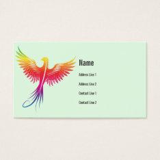 Phoenix Bird Rising Business Card at Zazzle