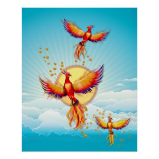 Phoenix Bird Rising Poster