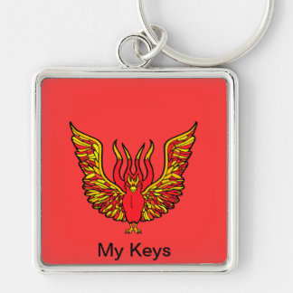 Phoenix - Book of Monsters - Ancient Greece Silver-Colored Square Keychain