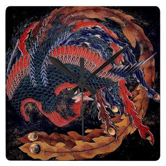 Phoenix by Hokusai - Clock Face