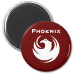 Phoenix city flag fridge magnet