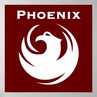 Phoenix city flag poster