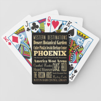 Phoenix City of Arizona State Typography Art Bicycle Playing Cards