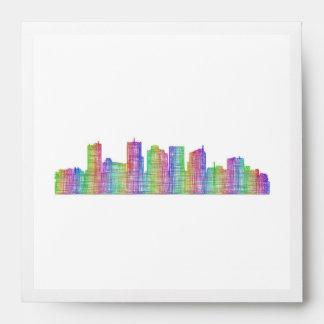 Phoenix city skyline envelope