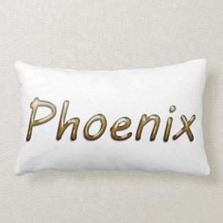 Phoenix - colores del desierto - en blanco cojin