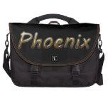Phoenix - colores del desierto - en negro bolsas de ordenador