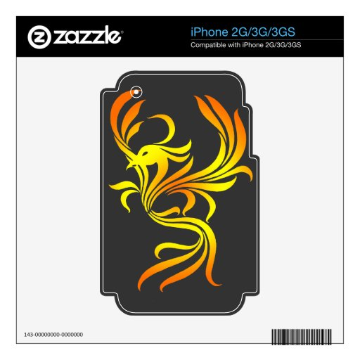 Phoenix Decal For The iPhone 2G