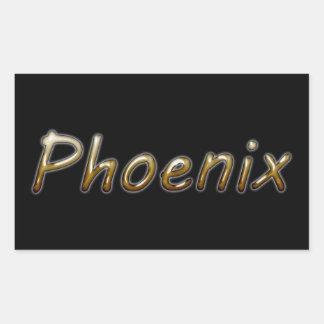 Phoenix - Desert Colors - on Black Rectangular Sticker