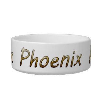 Phoenix - Desert Colors - on White Bowl