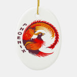 PHOENIX Double-Sided OVAL CERAMIC CHRISTMAS ORNAMENT