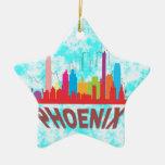 Phoenix Double-Sided Star Ceramic Christmas Ornament