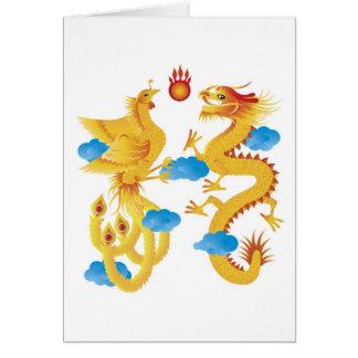 Phoenix Dragon Symbol Card