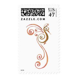 Phoenix en descanso timbre postal