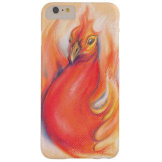 Phoenix en el arte del pastel de las llamas funda para iPhone 6 plus barely there