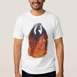 Phoenix en llamas remeras