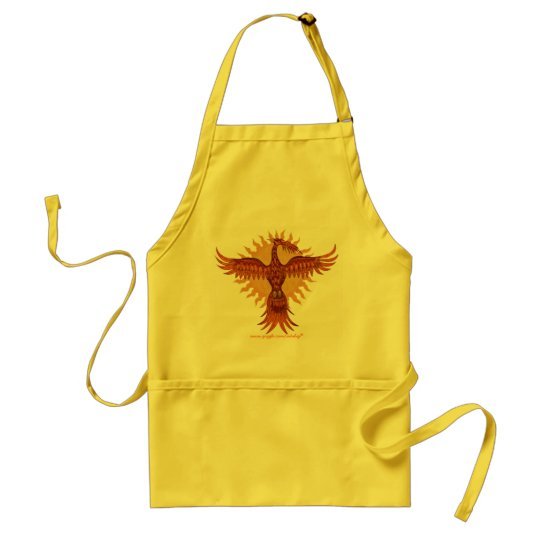 Phoenix fire bird cool apron design