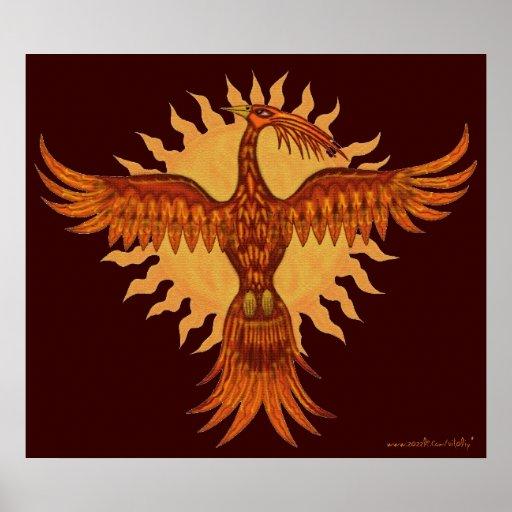 Phoenix fire bird cool art poster design