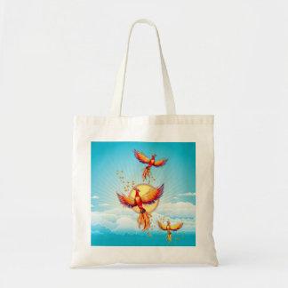 Phoenix Fire Bird Rising Budget Tote Bag
