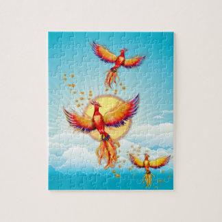 Phoenix Fire Bird Rising Jigsaw Puzzle