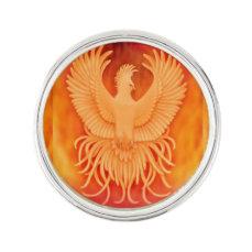 Phoenix Fire Bird Survivors Lapel Pin