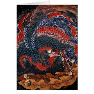Phoenix (Firebird Goddess) Hokusai Fine Art Card