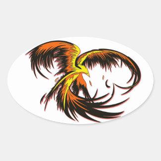 Phoenix Flight Oval Stickers