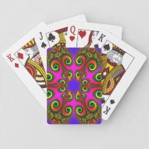 Phoenix Flower Fractal Pattern Playing Cards