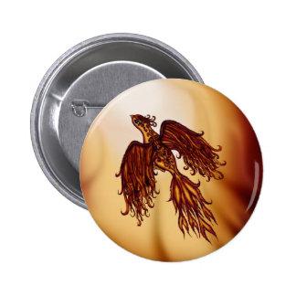 Phoenix Fly 2 Inch Round Button
