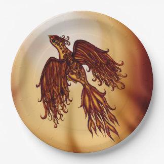 Phoenix Fly Paper Plate