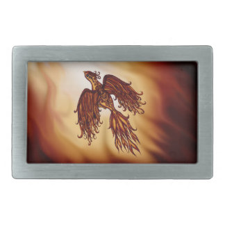 Phoenix Fly Rectangular Belt Buckle