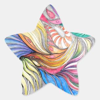 Phoenix Fronds Star Sticker