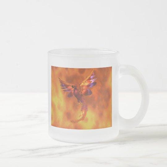 Phoenix Frosted Glass Coffee Mug
