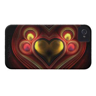 Phoenix Heart Fractal Case-Mate iPhone 4 Cases