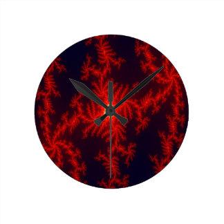 Phoenix Heart Round Clocks