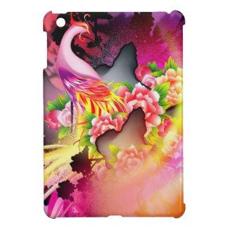 Phoenix hermosa en efectos coloridos iPad mini protector