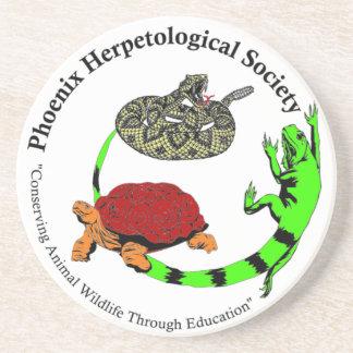 Phoenix Herpetological Society Sandstone Coaster