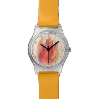 Phoenix in the Flames Pastel Art Watches