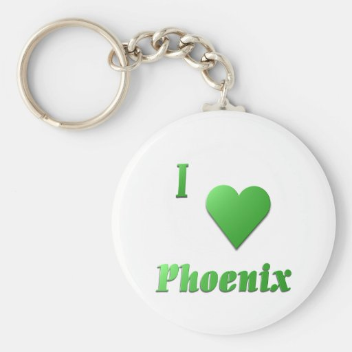Phoenix -- Kelly Green Key Chain