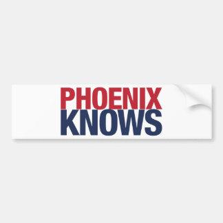 Phoenix Knows Bumper Sticker