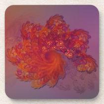 Phoenix Lament Cork Coaster